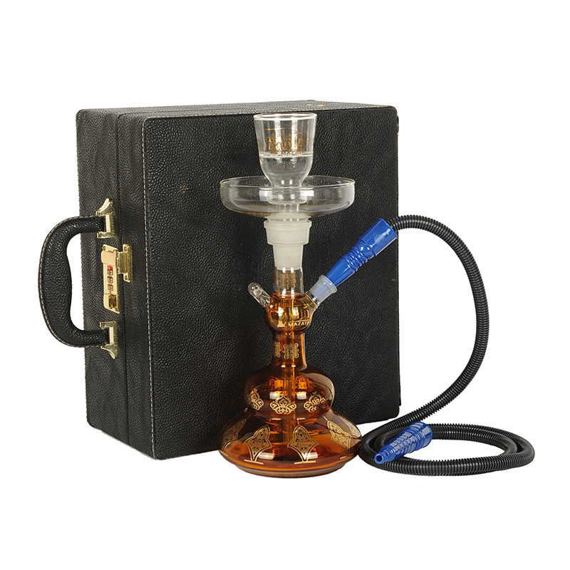 Al Fakher fruit tobacco shisha pipes full glass hookah safe package with suitcase