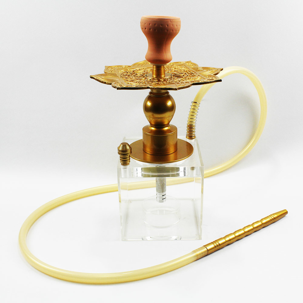 Acrylic hookah square shisha box smoking set lotus carbon plate high quality hookah for personal use ,bar