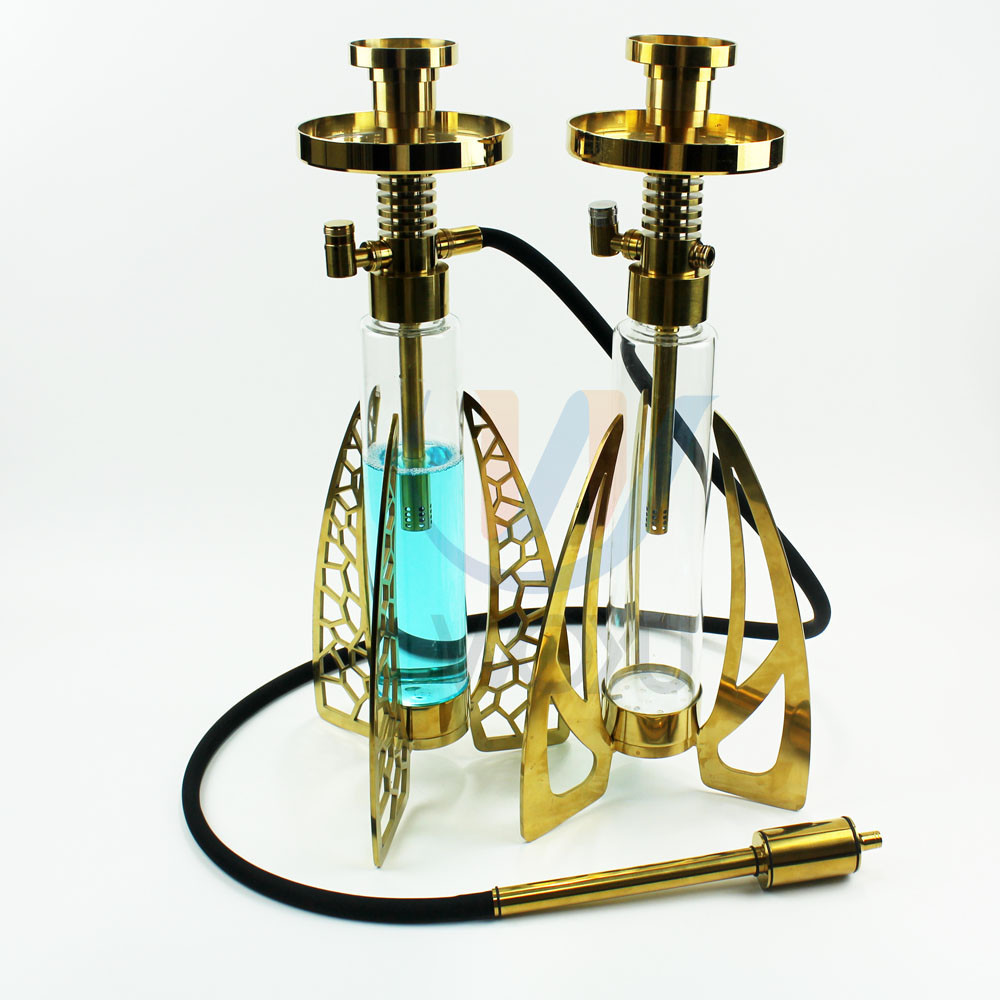 3 Foot 304 SS High Quality Glass Shisha