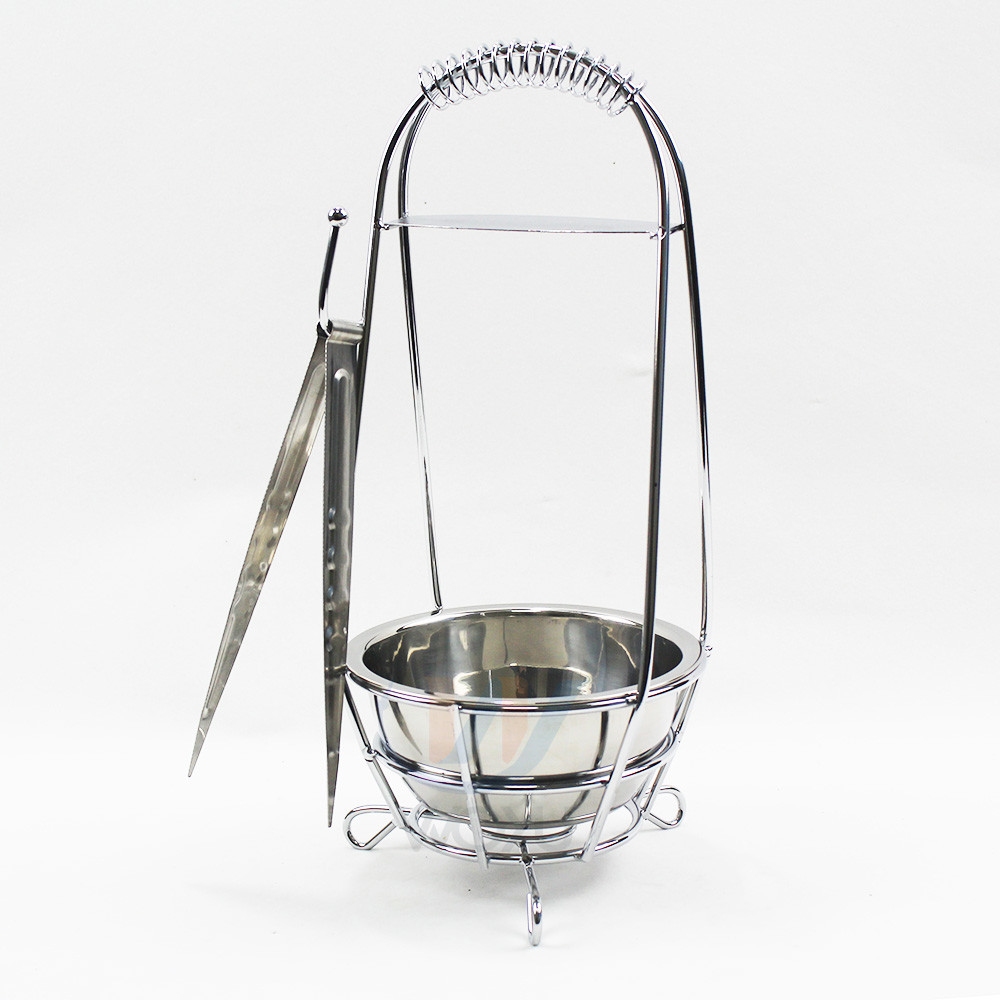 WY-CB010 high quality stainless steel coal basket tobacco bowl hookah basket