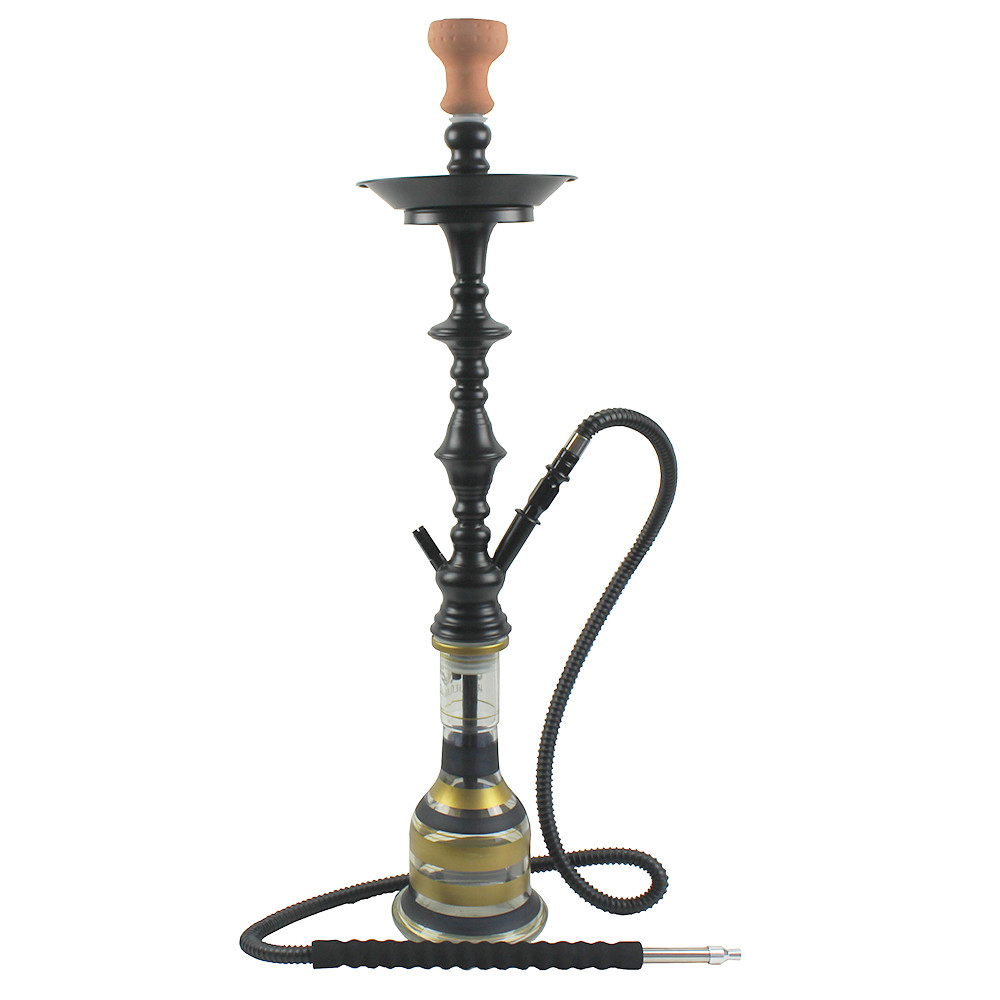 WY-SS342 Egyptian style black colored tall hookah shisha stainless steel