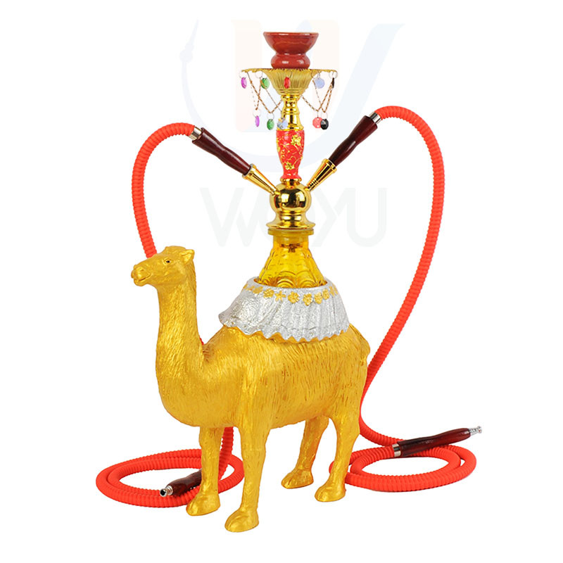 WY-1303 China hookah camel resin shisha double hose water sheesha pipe