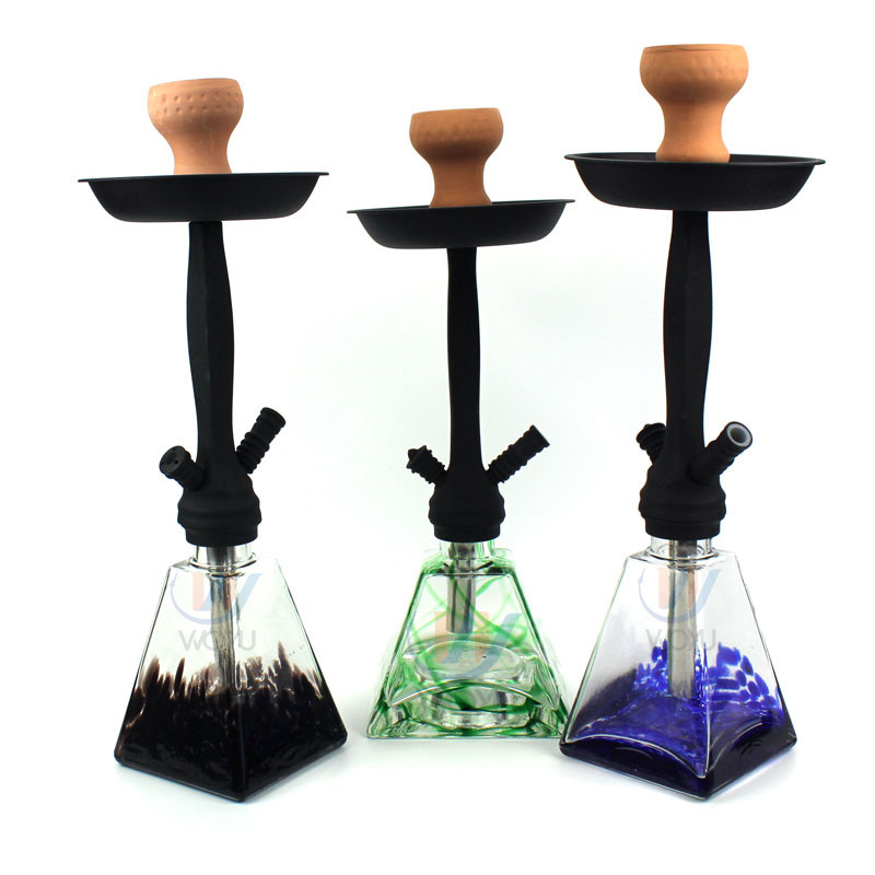 WY-MY03 black stem hookah special glass water bowl modern shisha