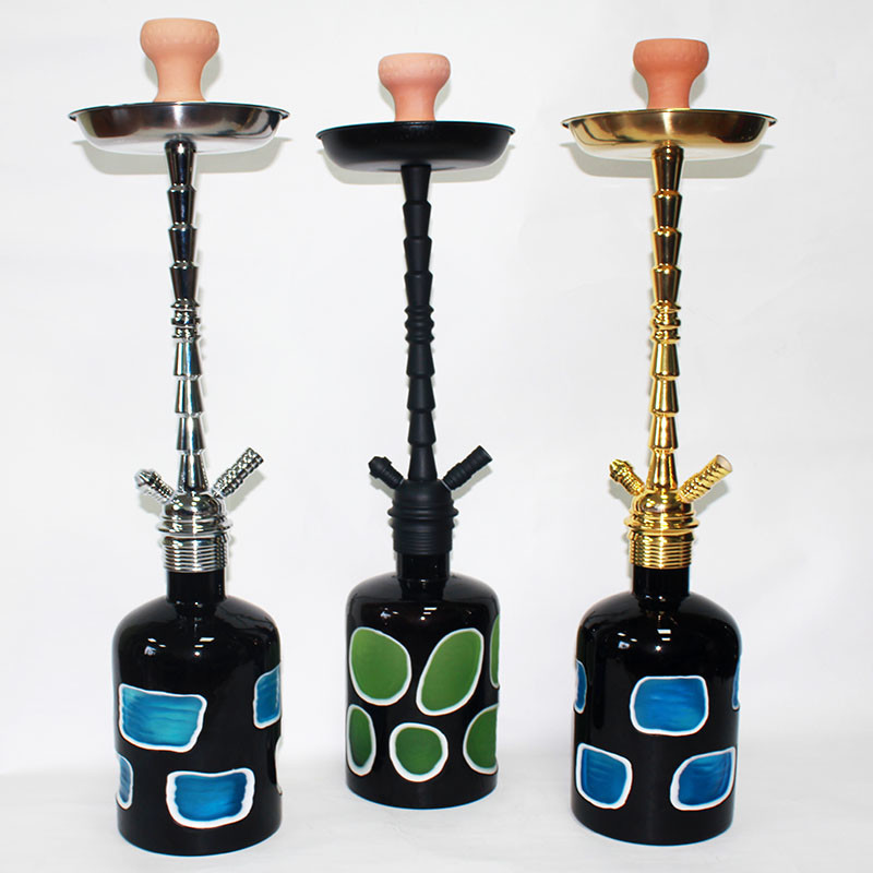WY-380 heavy glass bottle modern new hookah shisha smoking pipes