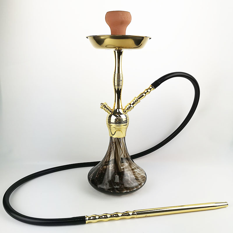 WY-S203 medium size gold color zinc alloy hookah shisha