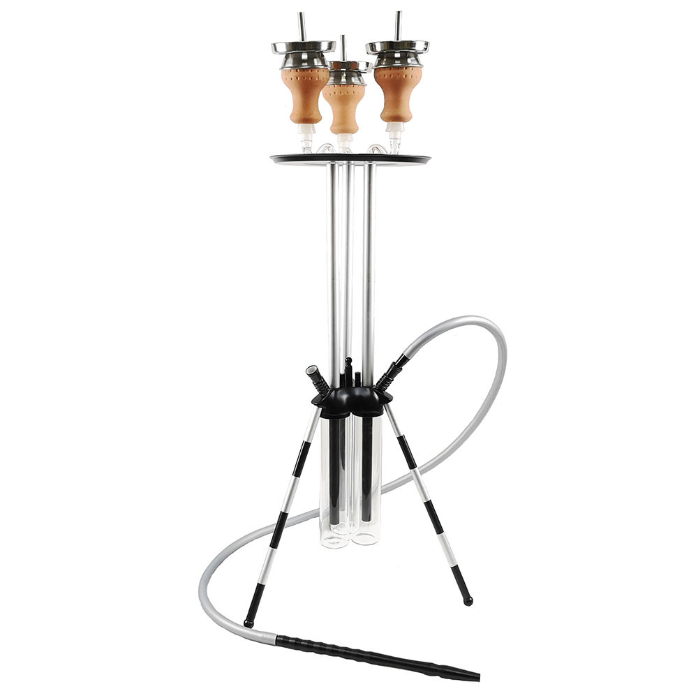 WY-SAL60 3-in-1 shisha modern hookah unique design sharing chicha hookah with 3 hoses 3bowls 3vases