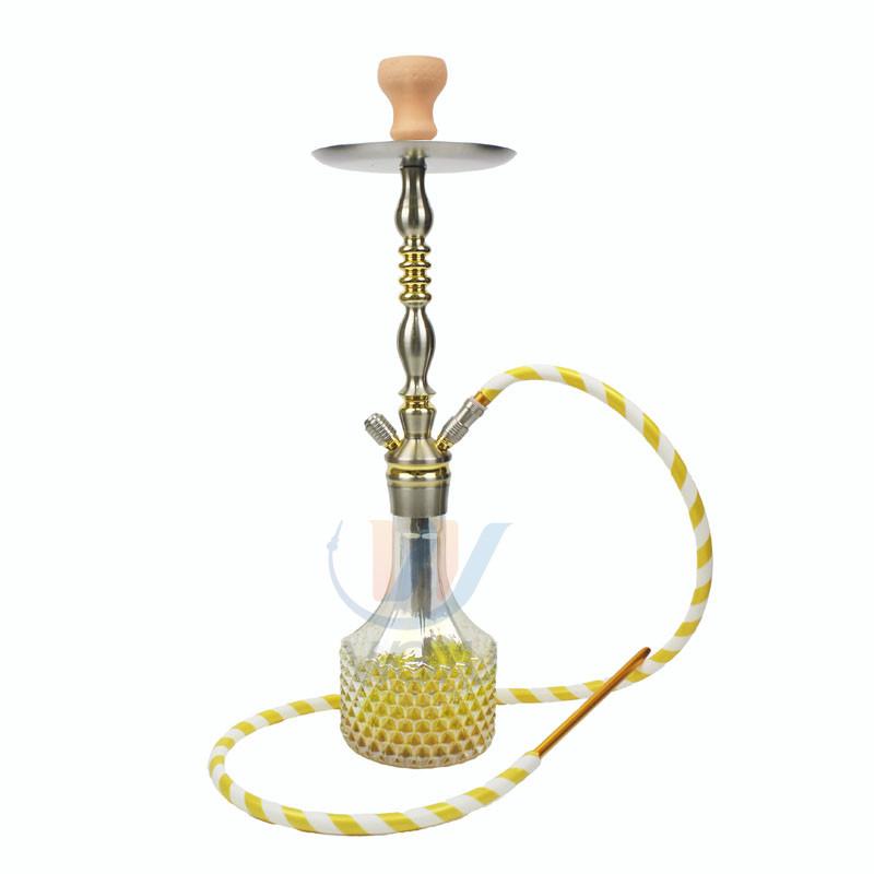 WY-AL022 Woyu glass hookah aluminum shisha hookah pineapple nargile kalih mamoon fruit hookah