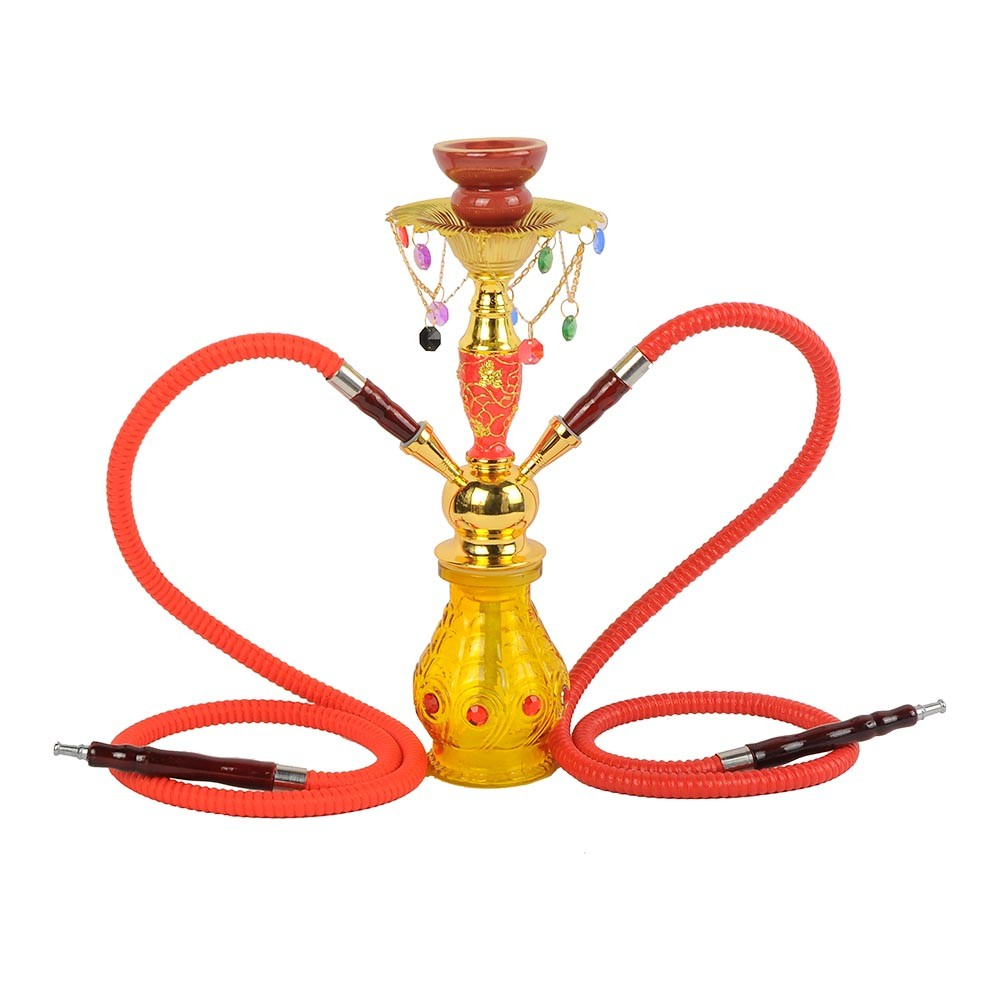 ZG-112 small shisha hookaha meduim narigle traditional chicha with decoration