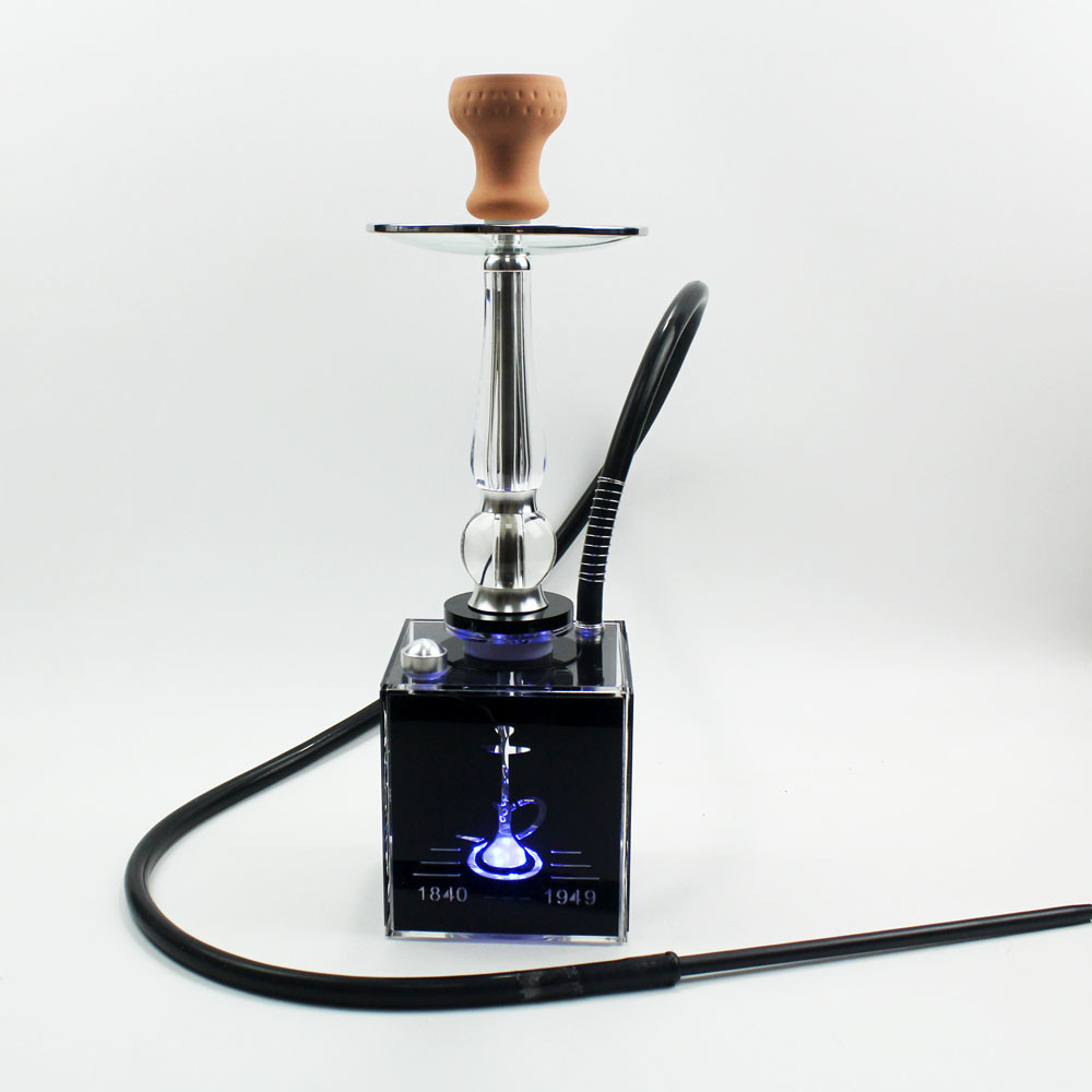 WY-AC190C acrylic hookah shisha with led light