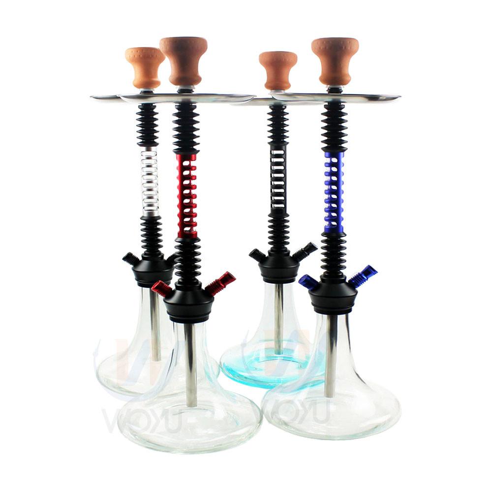 WY-AL035 special stem design aluminum glass shisha hookah