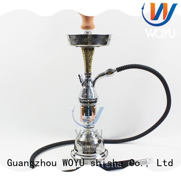 WOYU high quality zinc alloy shisha factory for smoker