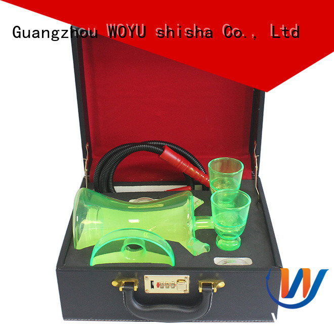 WOYU custom glass shisha manufacturer for smoking
