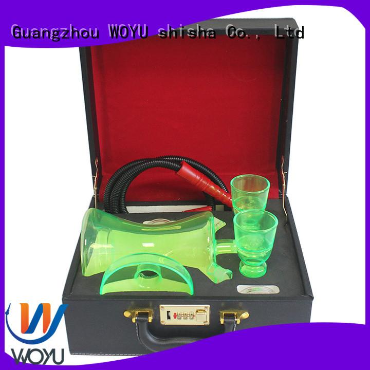 WOYU high quality glass shisha supplier for smoker