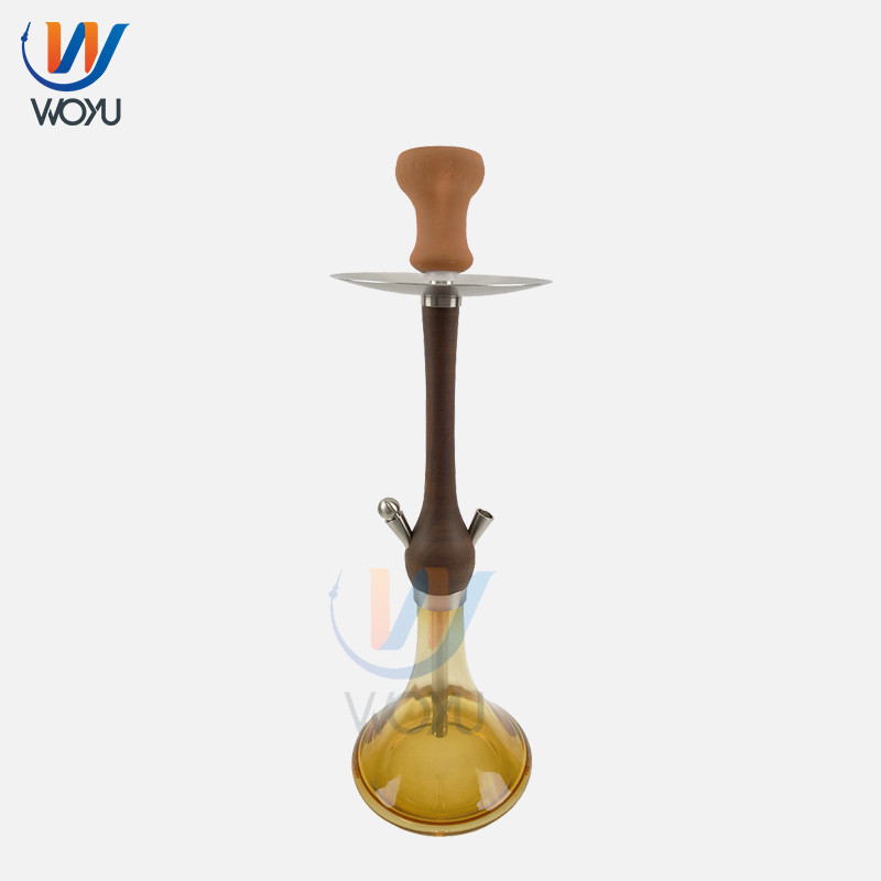 56cm Wooden Glass Shisha