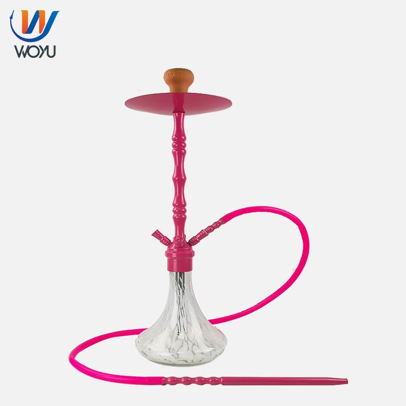 75cm Pink Glass Shisha