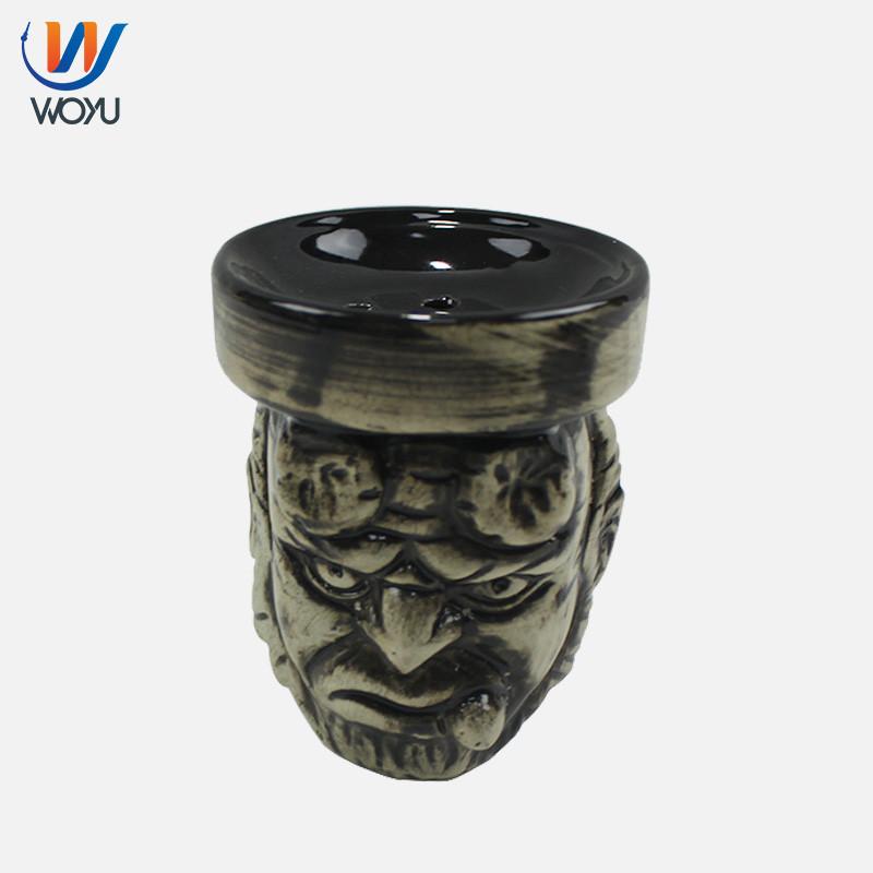 WY-BL09D Woyu Ceramic Shisha skull Head Bowl