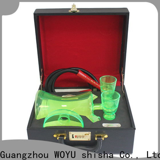 WOYU best-selling glass shisha factory for pastime