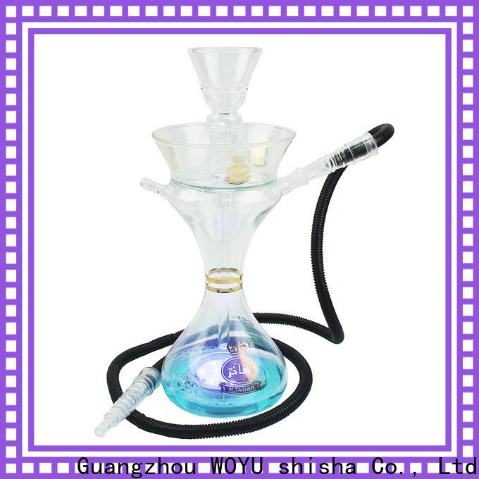 WOYU glass shisha manufacturer for smoker