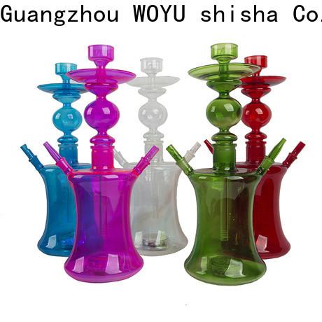 WOYU 100% quality glass shisha supplier for pastime
