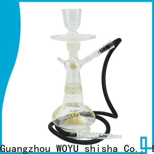 WOYU personalized glass shisha factory for trader