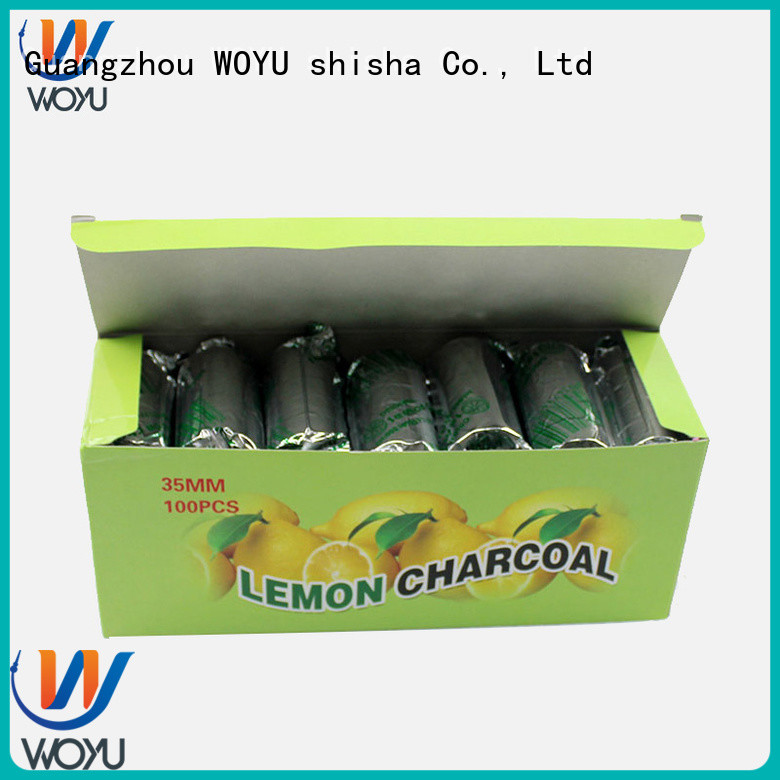 WOYU hookah charcoal factory for sale