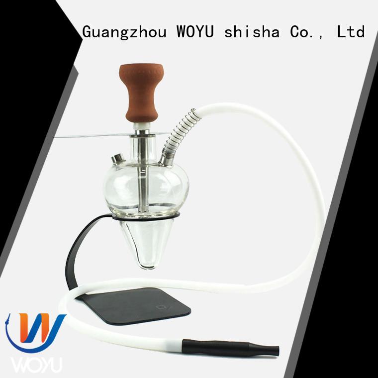 WOYU high quality glass shisha manufacturer for pastime